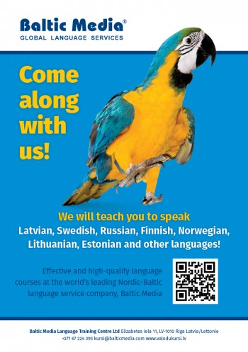 Latvian Language Course for Foreigners | Baltic Media Language Training Centre